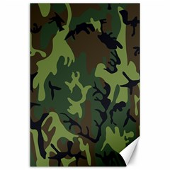 Military Camouflage Pattern Canvas 24  X 36  by BangZart