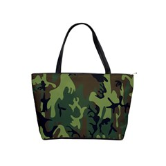 Military Camouflage Pattern Shoulder Handbags by BangZart