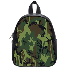 Military Camouflage Pattern School Bags (small)  by BangZart