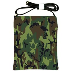 Military Camouflage Pattern Shoulder Sling Bags by BangZart