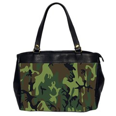 Military Camouflage Pattern Office Handbags (2 Sides)  by BangZart