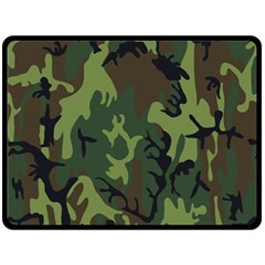 Military Camouflage Pattern Fleece Blanket (large)