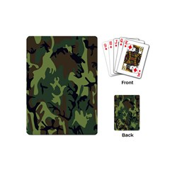 Military Camouflage Pattern Playing Cards (mini)  by BangZart