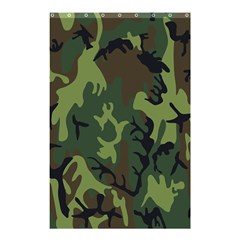 Military Camouflage Pattern Shower Curtain 48  X 72  (small)