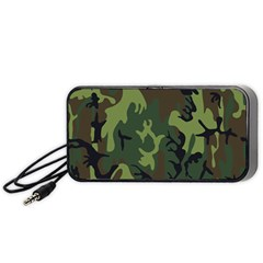 Military Camouflage Pattern Portable Speaker (black)