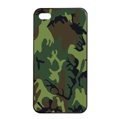 Military Camouflage Pattern Apple Iphone 4/4s Seamless Case (black)
