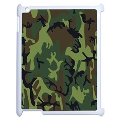 Military Camouflage Pattern Apple Ipad 2 Case (white)