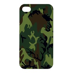 Military Camouflage Pattern Apple Iphone 4/4s Hardshell Case by BangZart