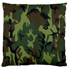 Military Camouflage Pattern Large Cushion Case (two Sides)