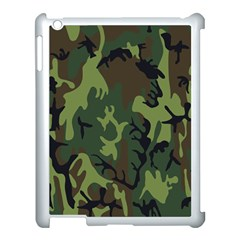 Military Camouflage Pattern Apple Ipad 3/4 Case (white)