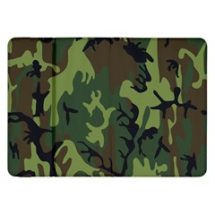 Military Camouflage Pattern Samsung Galaxy Tab 8 9  P7300 Flip Case by BangZart