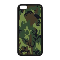 Military Camouflage Pattern Apple Iphone 5c Seamless Case (black) by BangZart