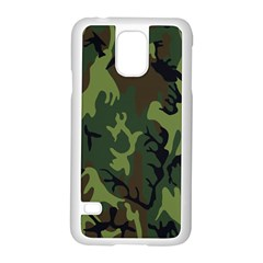 Military Camouflage Pattern Samsung Galaxy S5 Case (white) by BangZart