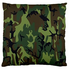 Military Camouflage Pattern Large Flano Cushion Case (two Sides) by BangZart