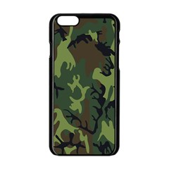 Military Camouflage Pattern Apple Iphone 6/6s Black Enamel Case