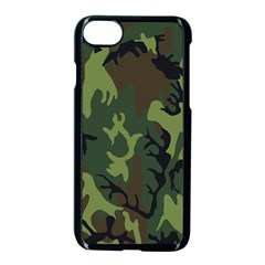 Military Camouflage Pattern Apple Iphone 7 Seamless Case (black)
