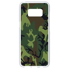 Military Camouflage Pattern Samsung Galaxy S8 White Seamless Case by BangZart