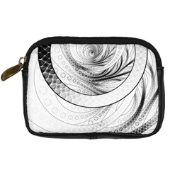Enso, A Perfect Black And White Zen Fractal Circle Digital Camera Cases by beautifulfractals