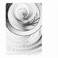 Enso, A Perfect Black And White Zen Fractal Circle Small Garden Flag (two Sides) by jayaprime
