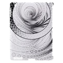 Enso, A Perfect Black And White Zen Fractal Circle Apple Ipad 3/4 Hardshell Case (compatible With Smart Cover) by beautifulfractals