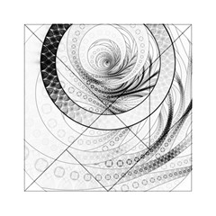 Enso, a Perfect Black and White Zen Fractal Circle Acrylic Tangram Puzzle (6  x 6 ) by beautifulfractals