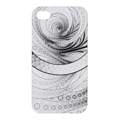Enso, A Perfect Black And White Zen Fractal Circle Apple Iphone 4/4s Premium Hardshell Case by beautifulfractals