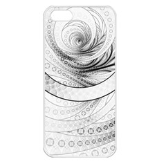 Enso, A Perfect Black And White Zen Fractal Circle Apple Iphone 5 Seamless Case (white) by jayaprime