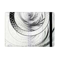 Enso, A Perfect Black And White Zen Fractal Circle Apple Ipad Mini Flip Case by jayaprime