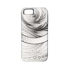 Enso, A Perfect Black And White Zen Fractal Circle Apple Iphone 5 Classic Hardshell Case (pc+silicone) by jayaprime