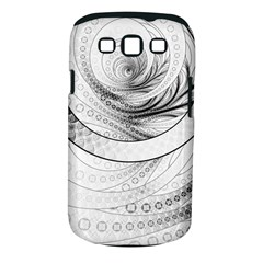 Enso, A Perfect Black And White Zen Fractal Circle Samsung Galaxy S Iii Classic Hardshell Case (pc+silicone) by jayaprime