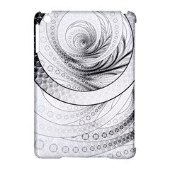 Enso, A Perfect Black And White Zen Fractal Circle Apple Ipad Mini Hardshell Case (compatible With Smart Cover) by beautifulfractals