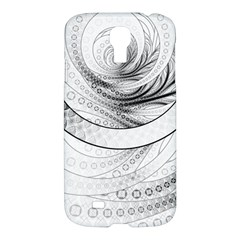 Enso, A Perfect Black And White Zen Fractal Circle Samsung Galaxy S4 I9500/i9505 Hardshell Case by beautifulfractals