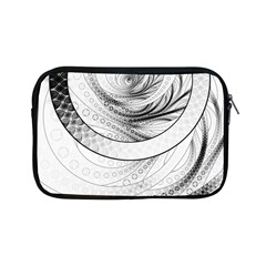 Enso, A Perfect Black And White Zen Fractal Circle Apple Ipad Mini Zipper Cases by beautifulfractals