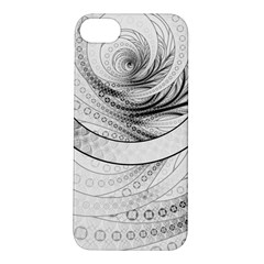 Enso, A Perfect Black And White Zen Fractal Circle Apple Iphone 5s/ Se Hardshell Case by beautifulfractals