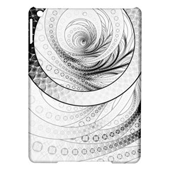 Enso, A Perfect Black And White Zen Fractal Circle Ipad Air Hardshell Cases by jayaprime