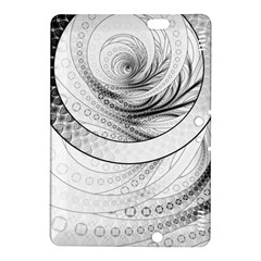Enso, A Perfect Black And White Zen Fractal Circle Kindle Fire Hdx 8 9  Hardshell Case by beautifulfractals