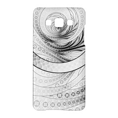 Enso, A Perfect Black And White Zen Fractal Circle Samsung Galaxy A5 Hardshell Case  by jayaprime