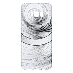 Enso, A Perfect Black And White Zen Fractal Circle Samsung Galaxy S8 Plus Hardshell Case  by beautifulfractals