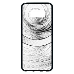Enso, A Perfect Black And White Zen Fractal Circle Samsung Galaxy S8 Plus Black Seamless Case by beautifulfractals