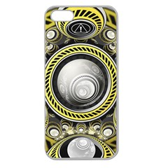 A Cautionary Fractal Cake Baked For Glados Herself Apple Seamless Iphone 5 Case (clear) by jayaprime