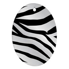 White Tiger Skin Ornament (oval)