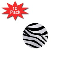 White Tiger Skin 1  Mini Magnet (10 Pack)  by BangZart