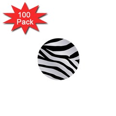 White Tiger Skin 1  Mini Buttons (100 Pack)