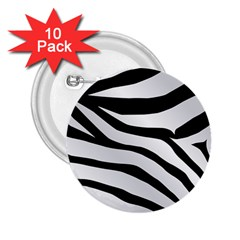 White Tiger Skin 2 25  Buttons (10 Pack)