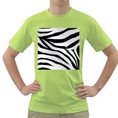 White Tiger Skin Green T Shirt