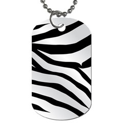 White Tiger Skin Dog Tag (two Sides) by BangZart