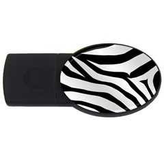 White Tiger Skin Usb Flash Drive Oval (2 Gb)