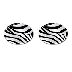 White Tiger Skin Cufflinks (oval) by BangZart