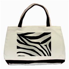 White Tiger Skin Basic Tote Bag