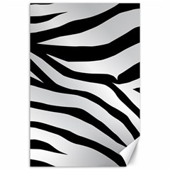 White Tiger Skin Canvas 24  X 36  by BangZart